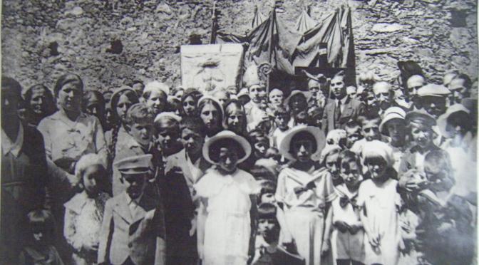 Accueil de Monseigneur Rodié à Saint Michel, 28 juin 1935.
