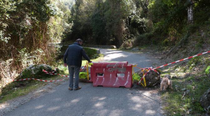La route vers Campana totalement fermée