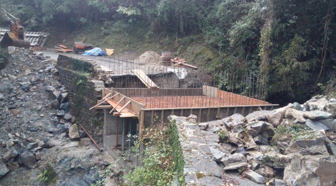 Avancement des travaux du pont de Tigliola