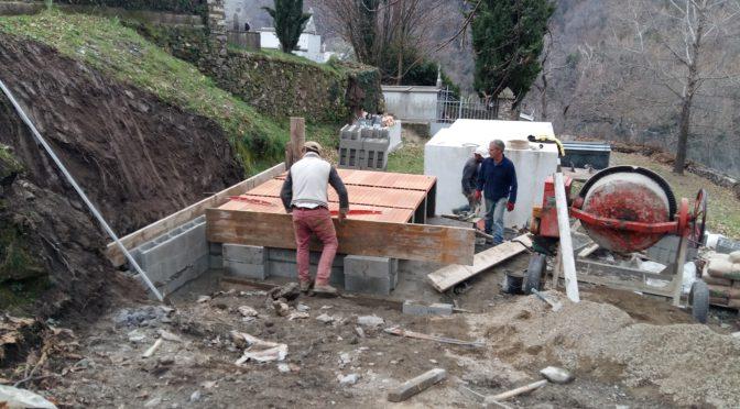 Premiers travaux d'urgence au cimetière